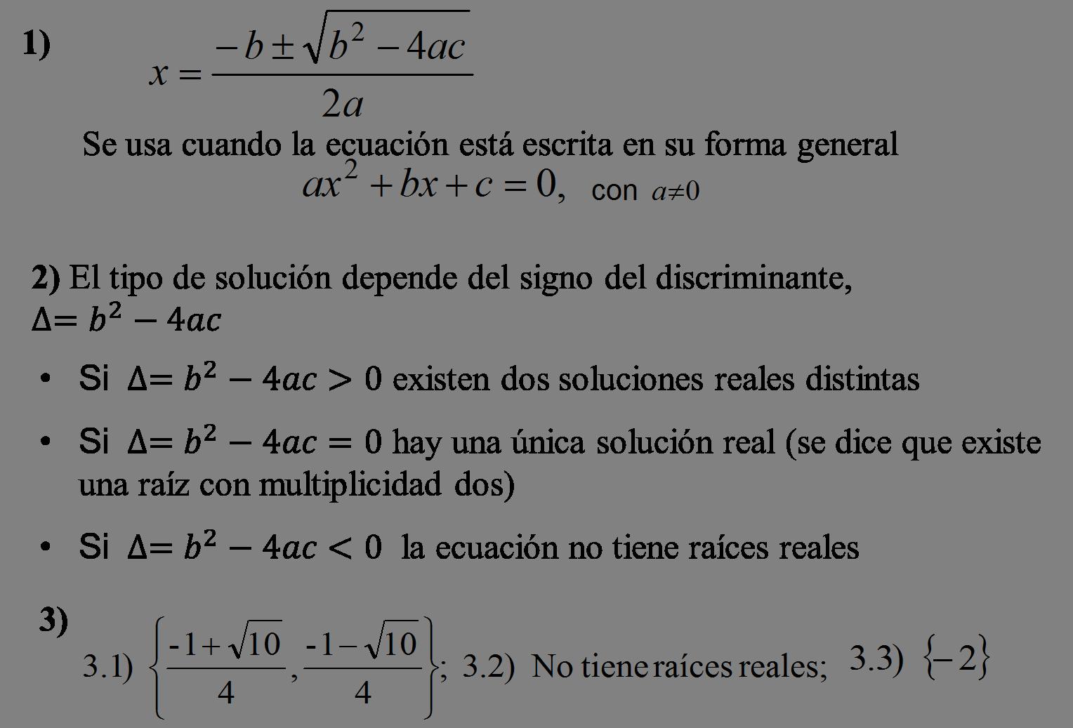 Ecuación cuadrática o de segundo grado: métodos para resolverla